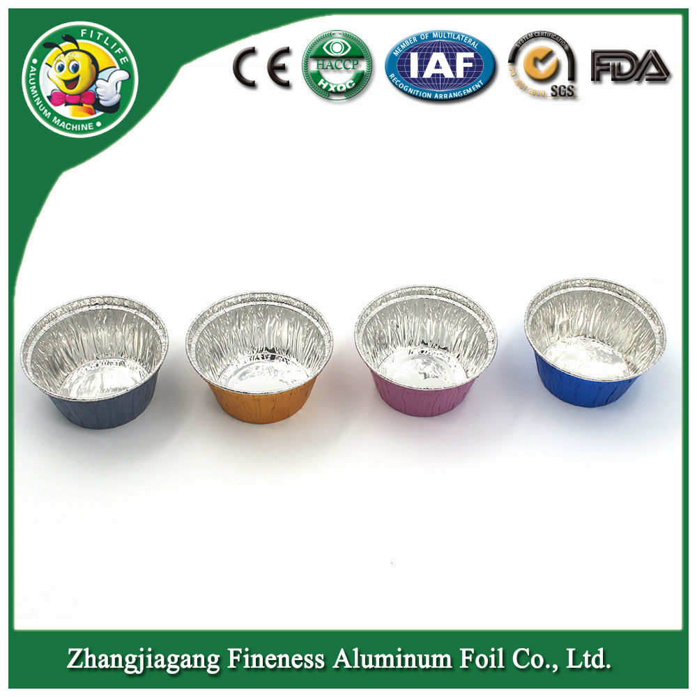 Color Disposable Wholesale Aluminum Foil Bowls for Cake