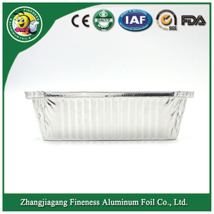 Disposable Aluminum Foil Trays Rectangle Aluminum Foil Container
