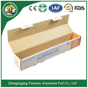 Household Aluminum Foil Roll with Corrugated Box and Plastic Tray